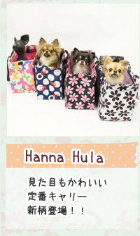 HannaHula 見た目もかわいい定番キャリー新柄登場!!